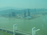 マカオタワーからは中国本土が見えます