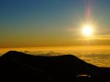 4205m山頂からのサンセットとてもきれいでした。