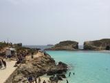 コミノ島のビーチ