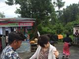 ブサキ寺院の観光準備