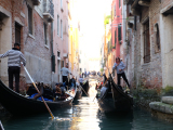 Ride along the narrow canals