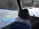 操縦中、横には感動的な景色が広がります