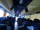 GWでお客さんが大勢だったので大型バス。ラクラクでした。
