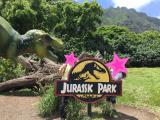 ガイドさんが写真用に恐竜用意してくれました!