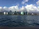 The Waikiki, Oahu coast from the boat.  Pictures do not do it justice.