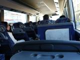 バスは座席のクッションも効いていて心地よい