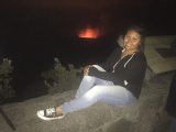 With hot smoldering lava behind me!! :)