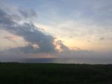 ミルミル本舗から見る夕日