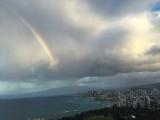 大きな虹が出ていました