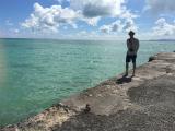 海がきれくて感動