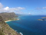 マカプウ岬の展望台からの景色