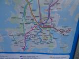 ヘルシンキ中心部トラム路線図