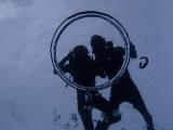 ガイドさんが作ってくれたバブルリングと一緒に写真撮ってもらいました!