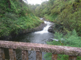 one of the many water falls on the road to hana