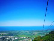 スカイレールからの景色 青い蝶も見れました