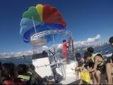 別グループの方の一緒に船に乗りました