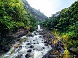 Waimea falls on a rainy day!