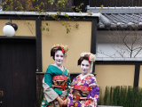 My sister and me in full Maiko attire.
