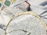 刺繍のデモンストレーション