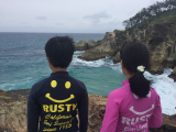 子どもたちには波間にウミガメが見えたそう!