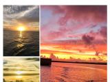 一邊吹著海風,一邊欣賞美景,同一個天空,每分鐘都在變,這些景色都是在坐帆船所拍攝的