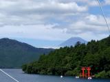 在蘆之湖海盜船上拍到的景色