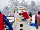 這是滑雪場的吉祥物嗎? 很可愛!