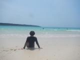 海灘的海岸線很長,十分漂亮
