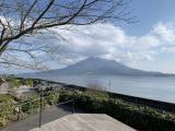 對岸的櫻島火山